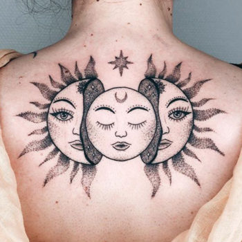 tatouage minimaliste dos