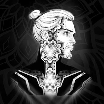 tatouage tattoo géométrie sacrée sacred Geometry geometric ornement ornemental dotwork pattern blackwork russe russian tattoo artiste tattooist xenia nayantara mandala neo tribal